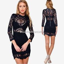 Women Sexy Elegant Lace Dress Evening Cocktail Party Mini Dress 003b