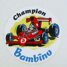 Autocollant BAMBINO  - Champion automobile -  Sticker collector Année 80/90