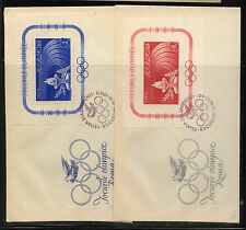 Romania  1337-1338   sheets   on  2  covers  first day         MS0224