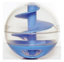 Cat Kitten Best Favourite Treat Food Dispenser Ball Toy Blue Interactive Playful