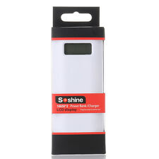 SoShine 2x18650 LCD Display Battery Charger Power Bank 2 Slot for iPhone Samsung