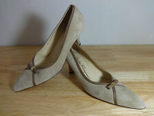 "Womens narrow fit shoes size 6 ""Salvatore Ferragamo light brown suede size 6 UK"