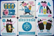 Bierdeckel Serie Sammlung - Bürgerbräu Ludwigshafen - Bilder mit Text von 1966