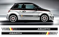 Fiat 500 Abarth Bi color Custom side stripe decal / stickers