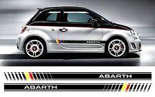 FIAT 500 ABARTH bi colore personalizzato Lato Strisce Decalcomanie/Adesivi