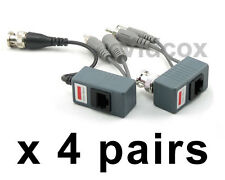 4 Pairs Video Power Audio Balun BNC to Cat5e Cat6 UTP for CCTV Security Camera
