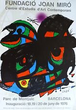 Fundacio Joan Miro Offsett Lithograph Poster 1976 Lim Ed. 2000 signed Barcelona