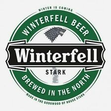 Game of Thrones Winterfell Cerveza En Hierro Camiseta Transferir