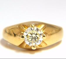 $6000 .82CT NATURAL FANCY LIGHT YELLOW DIAMOND VICTORIAN 18KT RING