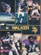1990 Starline HERSCHEL WALKER Vikings Monster Poster MINI Promo Piece RARE