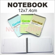 6x Notebook 12x7.4cm (A7) 50pages/book line small Weekly Schedule Personal Plan