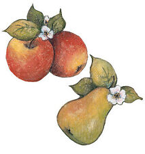 Apple Pears Fruit Flowers Susan Winget Border Wallies 25 New Wall Sticker Decals