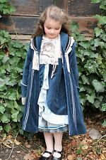 Coat ONLY Girls 140 10 100% Dutch Jottum Rembrandt Prussian Blue Velvet Castle