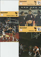 BASKETBALL NBA Refereeing Officials History 1977-79 SPORTSCASTER 3 CARD LOT