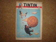 1948 Tintin Journal with Herge cover illustration from Jo, Zette & Jocko.