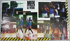 Vintage NIKE Poster MEN AT WORK Buck Williams Barkley Malone Robertson Olajuwon