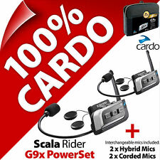 New Cardo Scala Rider G9x PowerSet Bluetooth Motorcycle Helmet Intercom Headset