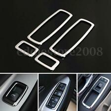 4pcs Matte ABS Window Switch Button Cover Trim Set For Jeep Grand Cherokee 11-15