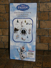 NEW in BOX Licensed Disney's Frozen Olaf Sticker Wall Clock