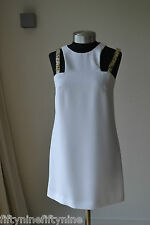 NUOVO Autentico VERSACE COLLECTION BIANCO Shift Dress Size 8