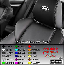 HYUNDAI LOGO CAR SEAT / HEADREST DECALS - BADGE Vinyl Stickers -Graphics X5
