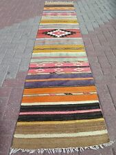 "Vintage Turkish Runner Rug,Carpet Runner 22,8""x112,5"" Antalya Kilim,Corridor Rug"