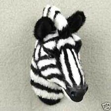 ZEBRA HEAD-Fur Refrigerator Magnets MINIATURE THROPHY:-)