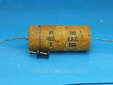 PYRAMID 2 UF 100 V VOLT WAX CAPACITOR 85 TOC VINTAGE MADE IN US GUITAR AUDIO AMP