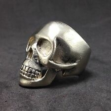 Mens Womens Silver Skull Biker Pirate Statement Jewelry Ring Size US 7 8 11.5