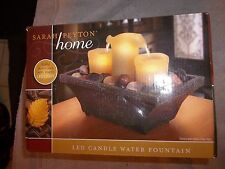 Sarah Peyton Home Flameless LED Candle Water Fountain - Meditation Relaxation
