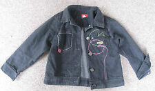 Girls MARESE Black Denim Jacket / Coat Size 4A / 4 Years / 102 cm - Gorgeous