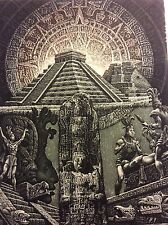 "JULIAN JORDANOV , Ex Libris, ""Ancient Sun"" 2006 , Limited Ed. 3/20"
