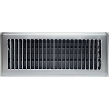Satin Chrome Louvered Floor Vent Register Cover for Ducted Heating 100x300mm