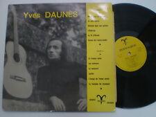 YVES DAUNES St FRANCE LP DISQUES ZODIAQUE 1972 Folk SIGNED AUTOGRAPHED