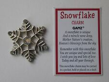 b SNOWFLAKE TOKEN Pocket Charm send snow to anyone anywhere blessing frozen ganz