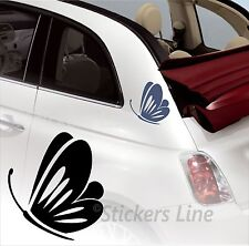 Kit adesivi FARFALLE 2 - SMART FIAT 500 fiori auto moto fiore car stickers