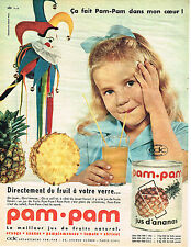 PUBLICITE ADVERTISING 074  1961  PAM-PAM   jus d'ANANAS