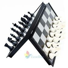 Portable Travel Magnetic Board Plastic Tournament Chess Set Pieces Kids Gift A