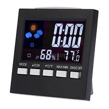Digital Colorful LCD Thermometer Hygrometer Weather Forecast Clock Alarm O2K6