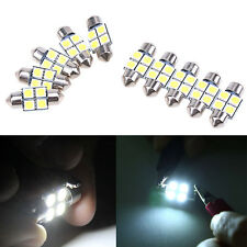 10pcs Dôme C5W 42MM Navette 5050 4 SMD LED Canbus  Ampoule Feston Blanc Voiture