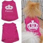 Cute Pet Dog Cat Cute Princess Letter T-shirt Clothes Vest Coat Summer Costumes
