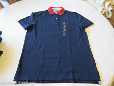 Men's Tommy Hilfiger Polo shirt  logo 7868433 Navy Blazer 416 XL Classic Fit NWT
