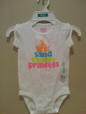 Carter's girls body suit cotton top spring summer size 18 months NWT free ship
