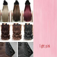 Real Thick 1Pcs Long Straight Wavy Clip In Hair Extensions Extension As Human Fi
