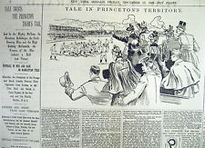 BEST 1891 display newspaper YALE defeats PRINCETON Undefeated inCOLLEGE FOOTBALL