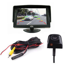 "New 4.3"" TFT LCD Monitor Car Rear View System Backup Reverse W/ 170° Mini Camera"