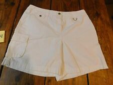 Womens Jones New York sport shorts SZ 12 White  11754