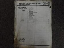 1988 Subaru 1800 Engine Transmission Service Repair Shop Manual OEM Book DAMAGED