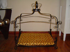 Luxury Iron scroll Canopy Royal PRINCESS Dog Cat Pet Bed Furniture small 25 x 18