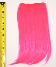 10'' Long Clip on Bangs Hot Pink Cosplay Wig Hair Extension Accessory NEW